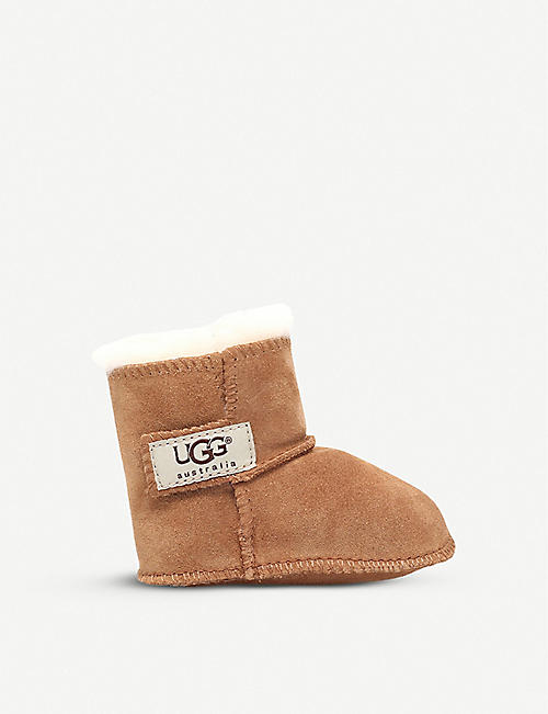 UGG: Erin suede and sheepskin boots 0-36 months
