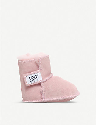 UGG: Erin suede and sheepskin boots 6-36 months