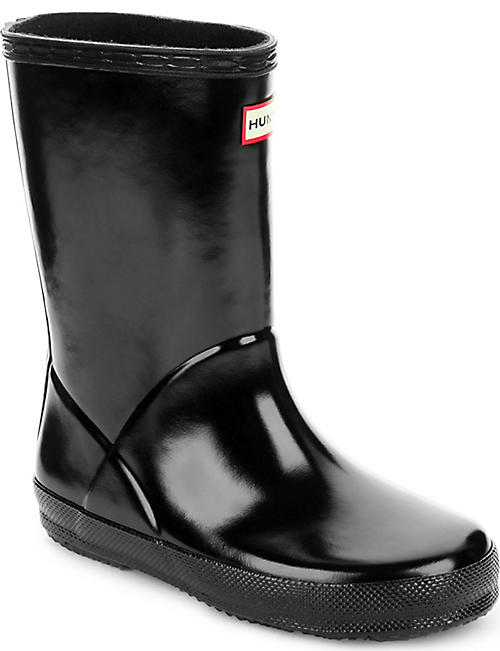 HUNTER Kids first gloss wellies 2-7 years