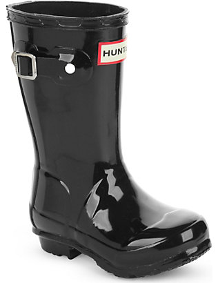 HUNTER: Original kids gloss wellington boots 3-6 years