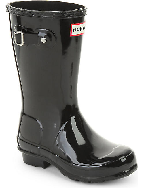 HUNTER Original kids gloss wellington boots 7-10 years