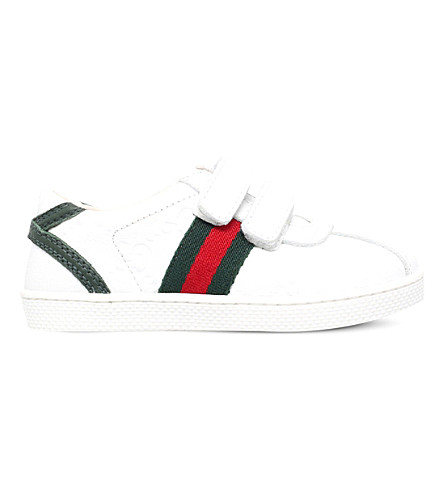 b199efa0bef9 GUCCI Bambi leather trainers 6 months-4 years (White