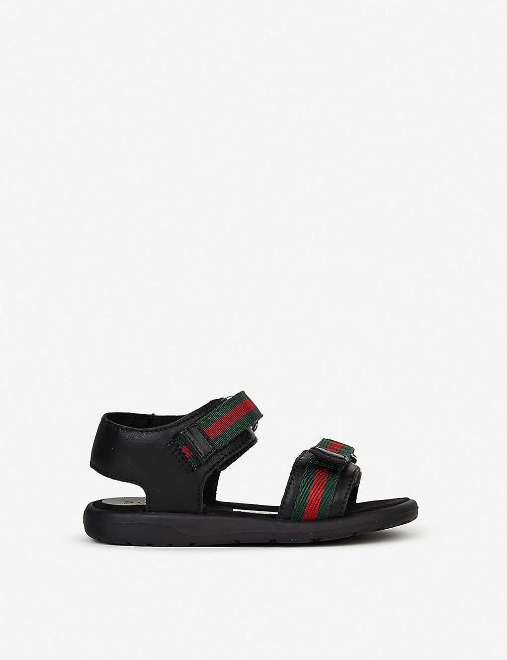 GUCCI: Gaufrette leather sandals 1-4 years