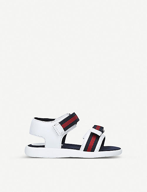 GUCCI Gauffrette leather sandals