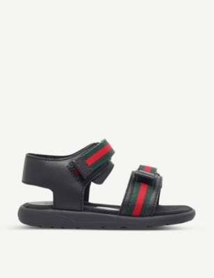 GUCCI Gauffrette leather sandals 5-8 years