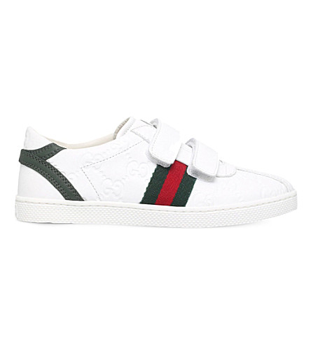 502141bb7907 GUCCI Bambi VL logo leather trainers 5-8 years (White