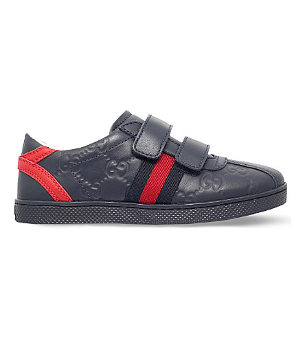 1206e531eca4 GUCCI Bambi leather trainers 5-8 years (Navy