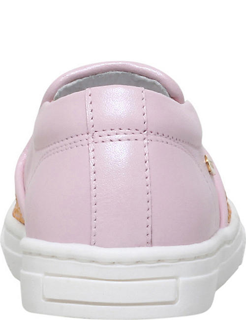 MISSOURI Clover crystal-embellished slip-on leather trainers 2-5 years