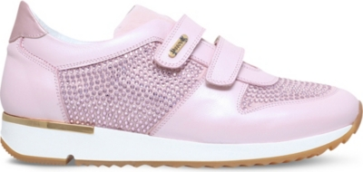 MISSOURI Peony embellished leather trainers 6-7 years