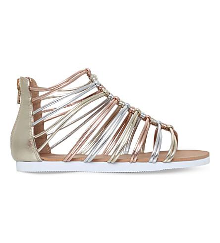 497c68f500b4 MINI MISS KG Rainbow metallic sandals 7 - 10 years (White