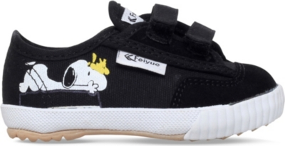 FEIYUE Fe lo snoopy canvas and suede plimsolls 2-4 years