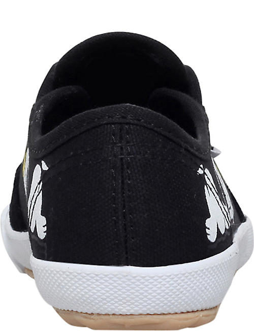 FEIYUE Fe lo snoopy canvas and suede plimsolls 5-11 years