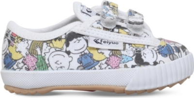FEIYUE Fe lo peanuts canvas plimsolls 2-4 years