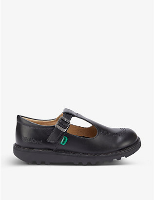 KICKERS: Kick T leather shoes (6-9 years)