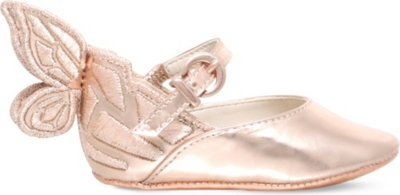 SOPHIA WEBSTER Chiara butterfly leather ballet flats 0-6 months