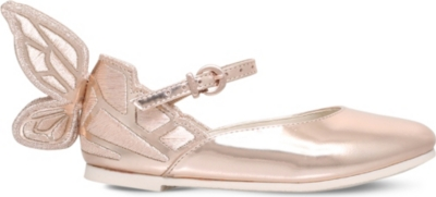 SOPHIA WEBSTER Chiara Mini butterfly leather flats 2-8 years