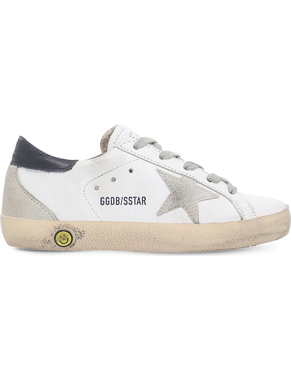 1a535e74a21c5 GOLDEN GOOSE - Superstar distressed leather trainers 6-9 years ...