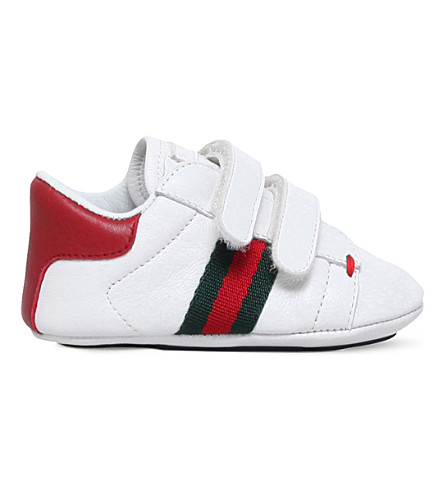 ff36f8ad6ec0a GUCCI - Baby ace leather trainers 4 months-1 years