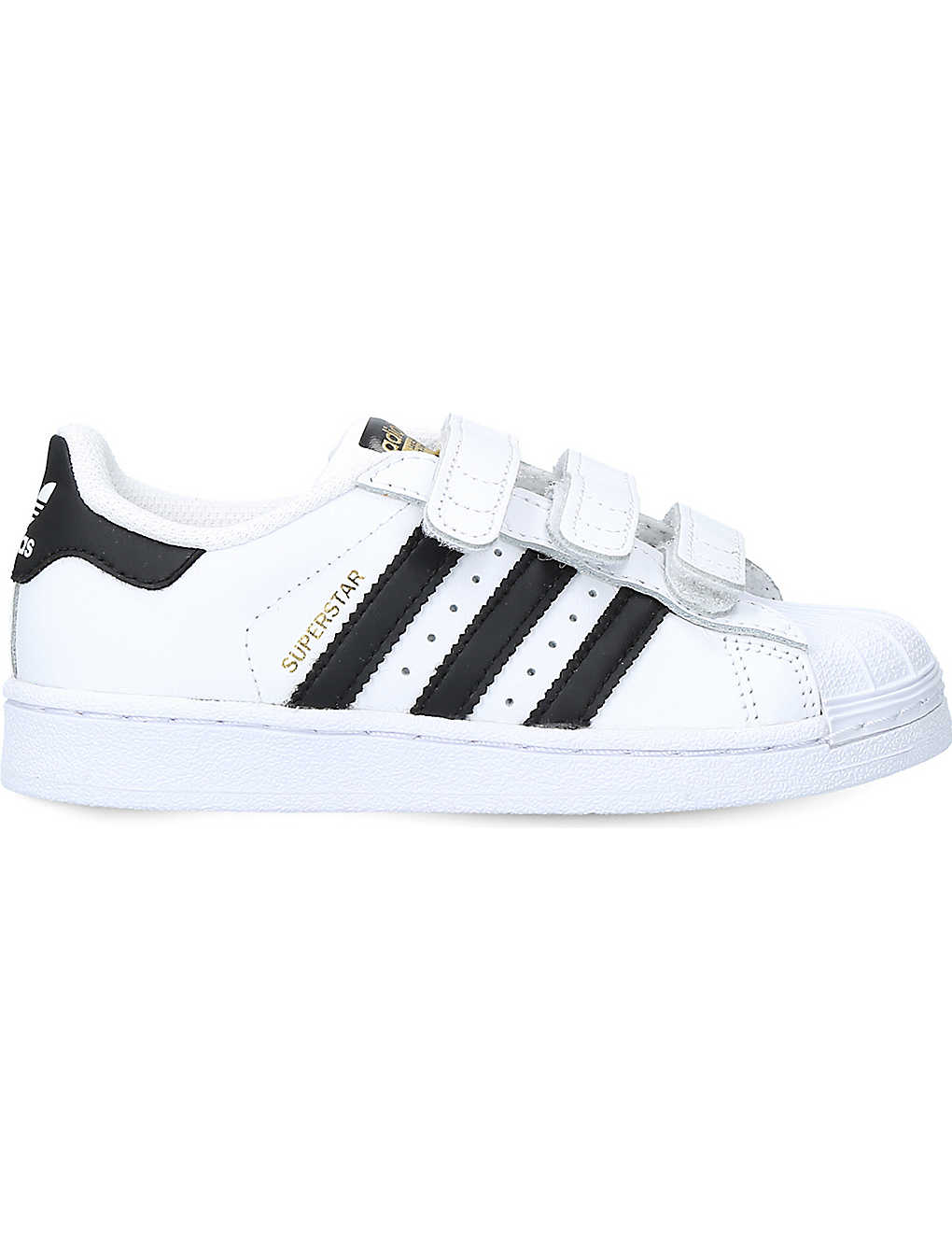 ADIDAS: Superstar leather trainers 5-9 years