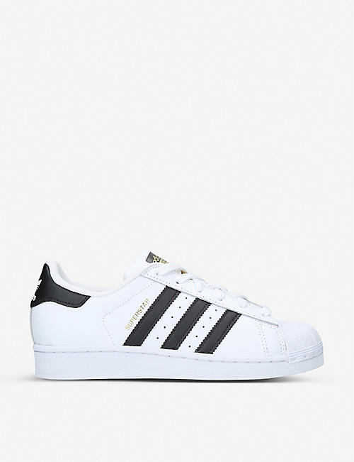 ADIDAS: Superstar J leather trainers 9-11 years