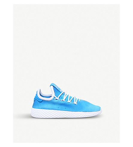 1e4e962a29c55 ADIDAS Pharrell Williams Tennis HU mesh trainers 4-9 years (Blue+other