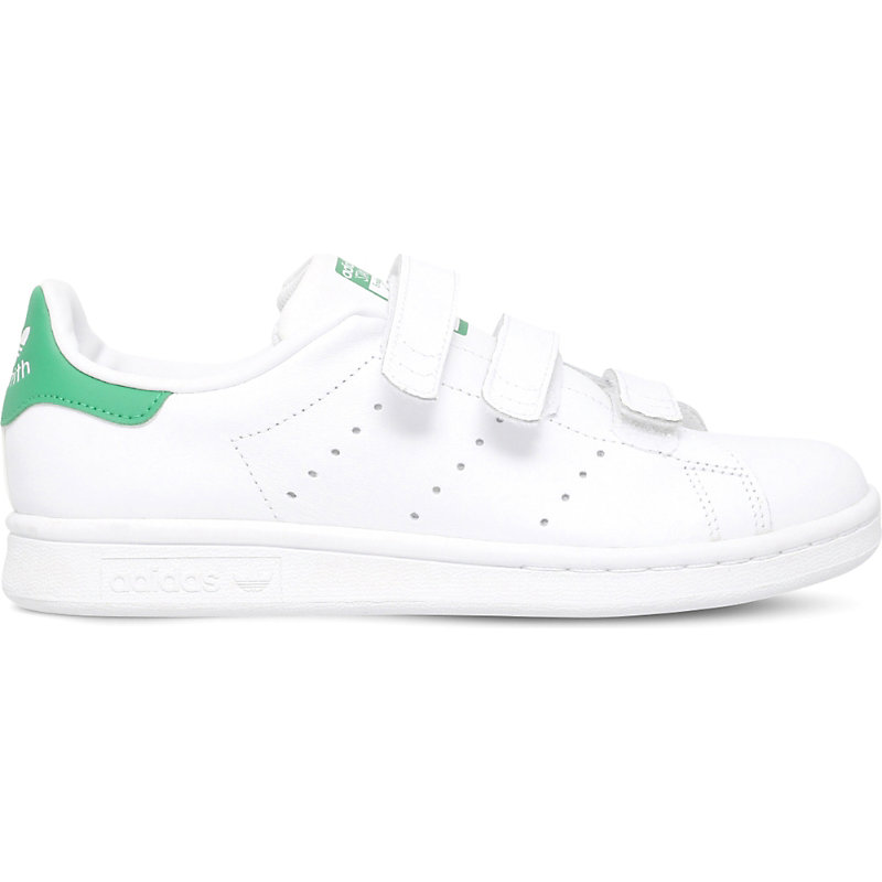 ADIDAS | Adidas Stan Smith Leather Trainers 6 Months-3 Years, Size: EUR 35.5 /3 UK ADULT, White/Oth | Goxip