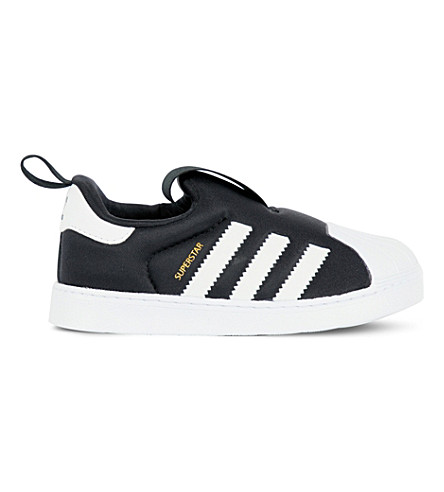 ADIDAS Superstar 360 neoprene trainers 6 months-5 years (Blk white 3d6bf3697
