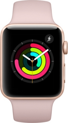 APPLE Series 3 GPS 38mm Gold Aluminium Case Pink Sand Sport Band