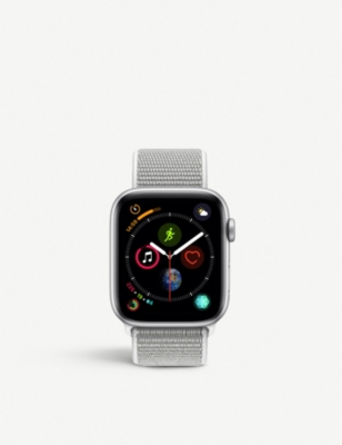 APPLE Series 4 44mm Cellular Apple Watch Silver with aluminium Seashell Sports Loop