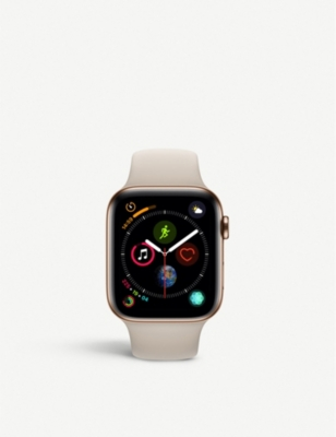 APPLE Series 4 44mm Cellular Apple Watch Gold with stainless steel Stone Sports Band