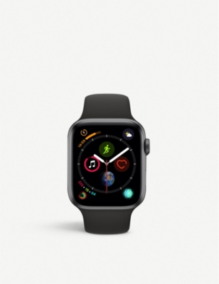 APPLE Nike+ Watch Series 4, 40mm, Cellular, Space Grey Aluminium, Anthracite Black, Sports Band