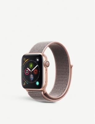 APPLE Series 4 40mm GPS Apple Watch Gold with aluminium Pink Sand Sports Loop