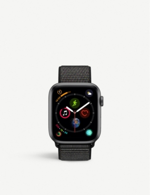 APPLE Watch Series 4, 44mm, GPS, Space Grey Aluminium, Black, Sports Loop