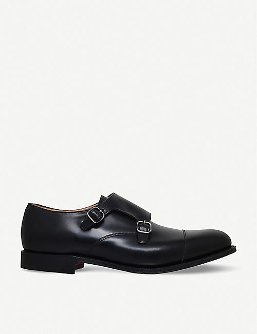 CHURCH: Detroit double leather monk shoes