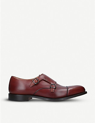 CHURCH: Detroit double-strap leather monk shoes