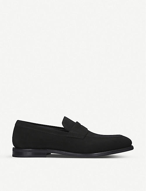 CHURCH: Parham suede penny loafers