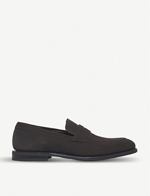 CHURCH Parham suede penny loafer