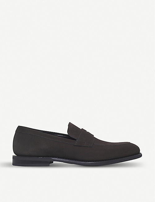 CHURCH: Parham penny suede loafers