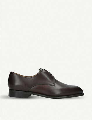 BARKER: St Austell leather derby shoes