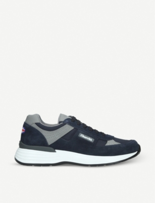CHURCH Ch873 suede and textile trainers