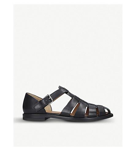 e748d5f09100 CHURCH Fisherman leather sandals (Black