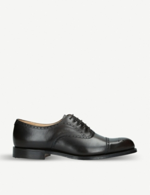 CHURCH Weymouth brogue-detailed leather Oxford shoes