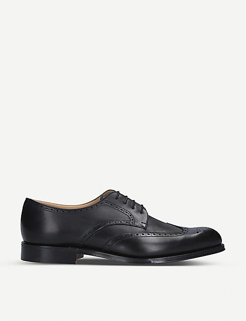 CHURCH: Cartworth brogue leather derby shoes