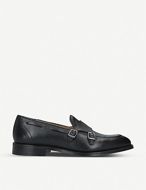 CHURCH Clatford St James leather double monk shoes