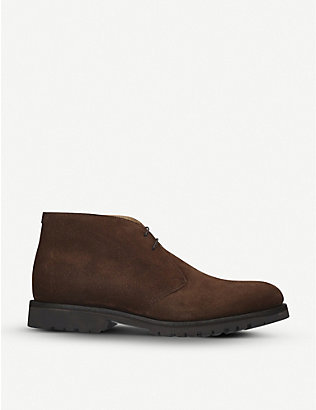 BARKER: Connor suede chukka boots