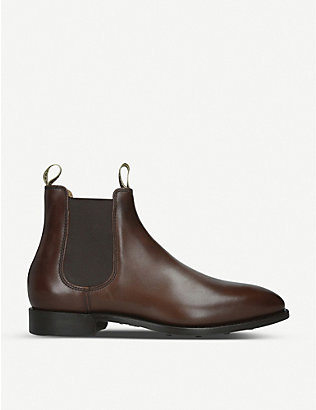 BARKER: Mansfield leather Chelsea boots