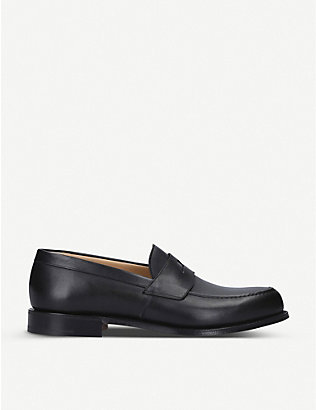 CHURCH: Dawley leather penny loafers