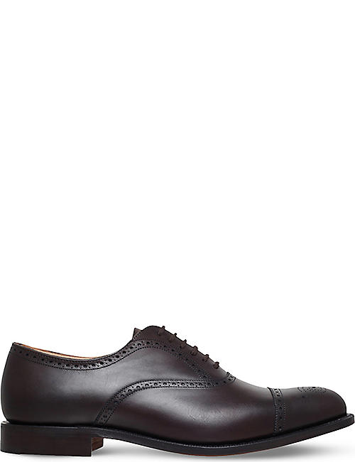 CHURCH: Toronto punched leather Oxford shoes