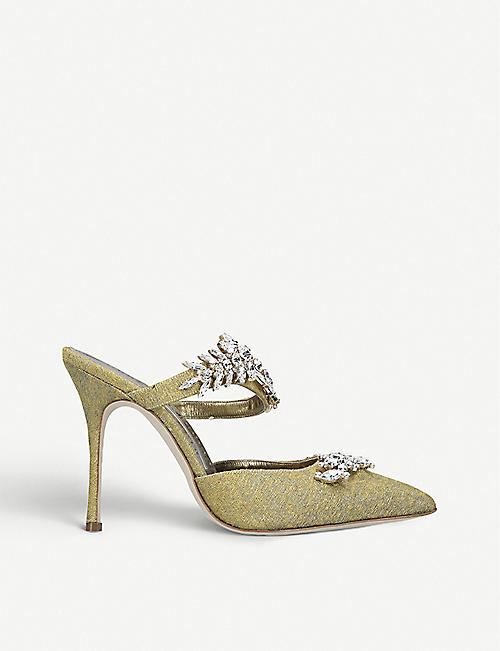 MANOLO BLAHNIK Lurum 提花穆勒鞋