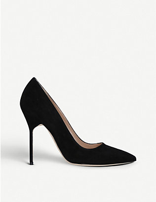 MANOLO BLAHNIK: BB 115 suede courts
